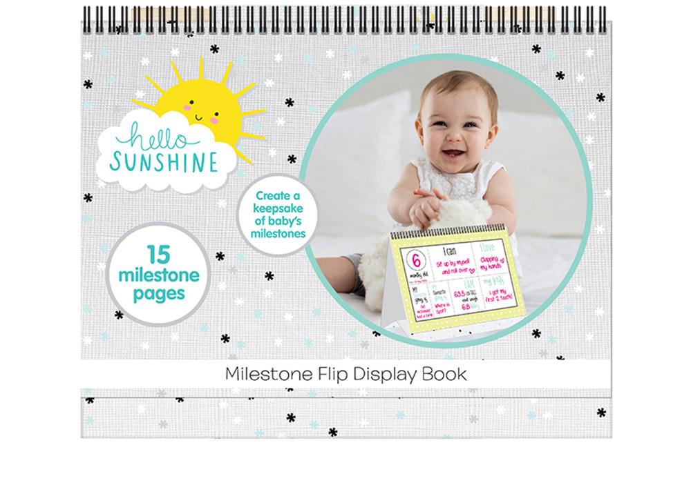 Hello Sunshine Milestone Flip Display Book Hunter Leisure Baby Bunting