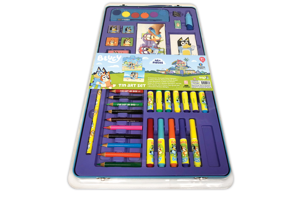 www.hunterleisure.com.au Bluey Tin Art Set Target Hunter Leisure