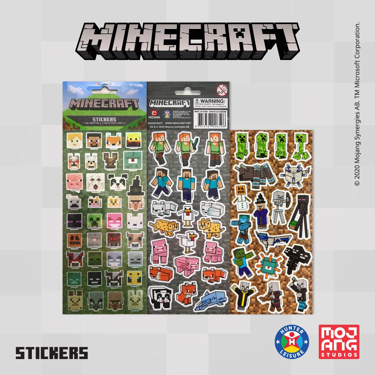 www.hunterleisure.com.au Minecraft Stickers Big W Hunter Leisure